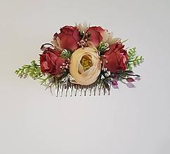 Ozdoby do vlasov - kvetinový hrebienok do vlasov - 10329219_