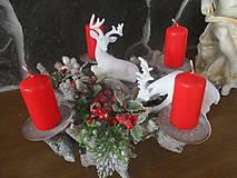 Dekorácie - Vianočný svietnik - 10331230_