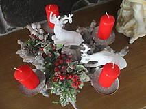 Dekorácie - Vianočný svietnik - 10331231_