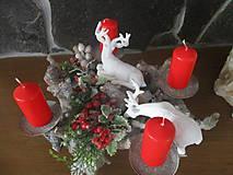 Dekorácie - Vianočný svietnik - 10331241_