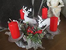 Dekorácie - Vianočný svietnik - 10331247_