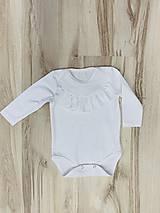Detské oblečenie - Dojčenské body s volánikom biele - 10328098_