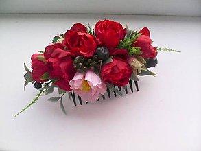 Ozdoby do vlasov - Kvetinový hrebienok do vlasov ... vôňa ženy ... - 10329497_