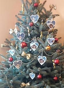 Dekorácie - Sada vianočných ozdôb - Zimná krajinka - 10331584_