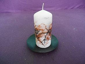 Svietidlá a sviečky - parafínová sviečka maľovaná farbami na vosk - valec - 10330720_
