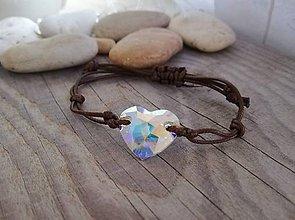 Náramky - Srdce Swarovski heart crystal AB - 10332038_