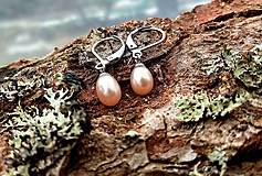 Náušnice - Visiace náušnice (CHO) s riečnymi perlami - 10329944_