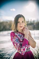 Šaty - Vyšívané šaty Poľana - 10329336_