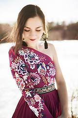 Šaty - Vyšívané šaty Poľana - 10329337_