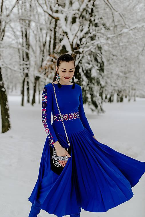 Šaty - Plisované šaty Slavianka - 10329543_