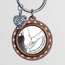 Kľúčenky - Valentínska personalizovaná kľúčenka (25mm) - 10328408_