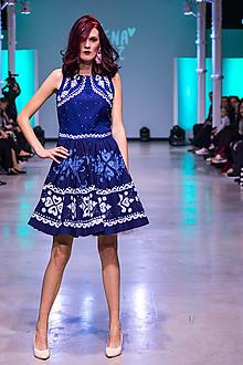 Šaty - Kolekcia Inšpirácie - modrotlač - 10328479_