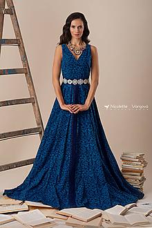 Šaty - Kolekcia Inšpirácie - modrotlač - 10329947_