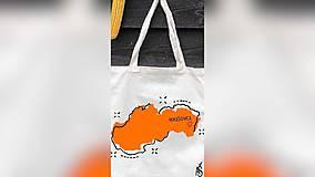Iné tašky - ♥ Plátená, ručne maľovaná taška ♥ - 10329652_