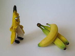 Dekorácie - Plstený banán - 10329291_