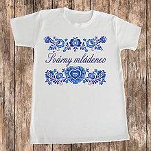Oblečenie - Pánske tričko- Švárny mládenec - 10328325_