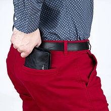 Peňaženky - Kožená peňaženka na mince a bankovky LAKY - 10330996_