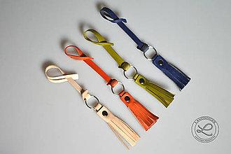 Materiál ručne robený - Kožený strapec s príveskom - 10331962_