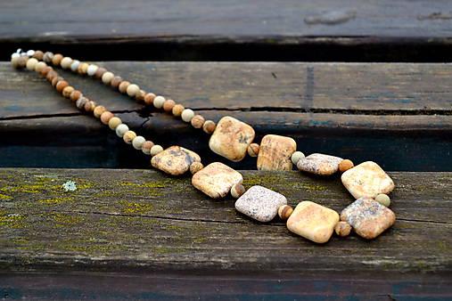 Jaspis unisex náhrdelník