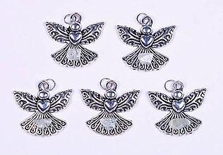 Iné šperky - Anjel lásky akvamarín - 10330972_