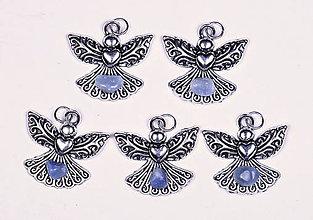 Iné šperky - Anjel lásky avanturín modrý - 10331022_