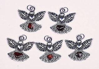 Iné šperky - Anjel lásky granát červený - 10331070_