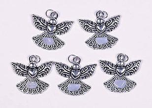 Iné šperky - Anjel lásky chalcedón modrý - 10331095_
