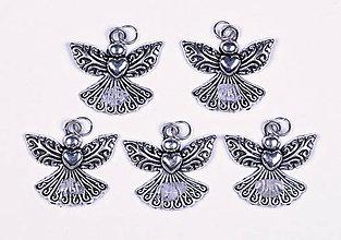 Iné šperky - Anjel lásky chalcedón vločkový - 10331101_