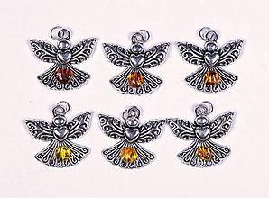 Iné šperky - Anjel lásky jantár - 10331115_