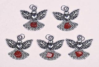 Iné šperky - Anjel lásky jaspis červený - 10331128_