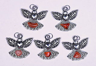 Iné šperky - Anjel lásky karneol - 10331139_