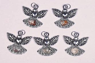 Iné šperky - Anjel lásky krištáľ lodolit - 10331148_