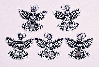Iné šperky - Anjel lásky krištáľ skoryl - 10331150_