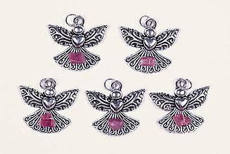 Iné šperky - Anjel lásky rubín - 10331210_