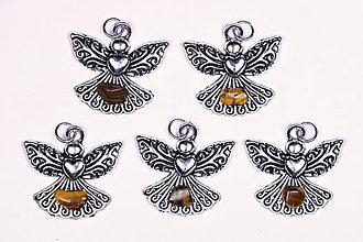 Iné šperky - Anjel lásky tigrie oko - 10331225_