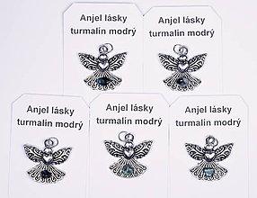Iné šperky - Anjel lásky turmalín modrý - 10331249_