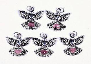 Iné šperky - Anjel lásky turmalín rubelit - 10331258_