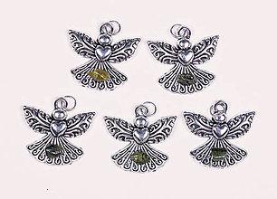 Iné šperky - Anjel lásky turmalín verdelit - 10331265_