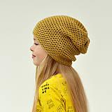 Čiapky - Vrecová čiapka horčicová + 37 farieb - 10328155_