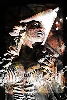 Grafika - Oranžová socha - 10330498_