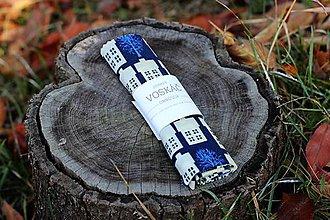 Obalový materiál - Voskovaný obrúsok Voskáč 33x33 cm (domčeky v noci) - 10331960_