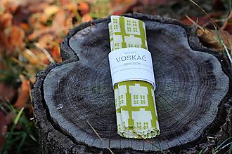 Úžitkový textil - Voskovaný obrúsok Voskáč 33x33 cm (domčeky v deň) - 10331975_