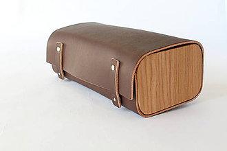 Tašky - Kozmetická kožená taška - Piccola - 10330941_
