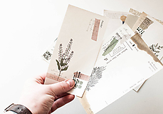 "Papier - Set papierov "" vintage botanical"" - 10331749_"