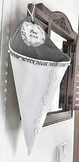 Úžitkový textil - Dekorační vintage kornout shabby - 10328100_