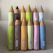 Textil - Farebné ceruzky s menom - 10331305_
