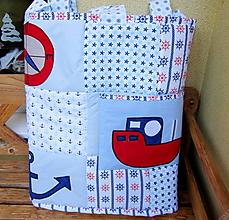 Úžitkový textil - Námornícka zástena  - 10328369_