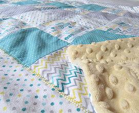 Textil - farebný svet... (cca 65 x 100 cm - Tyrkysová) - 10329058_