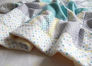 Textil - farebný svet... (cca 65 x 100 cm - Tyrkysová) - 10329222_