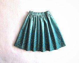 Detské oblečenie - sedemdesiat sukien mala... (lagoon) - 10330503_